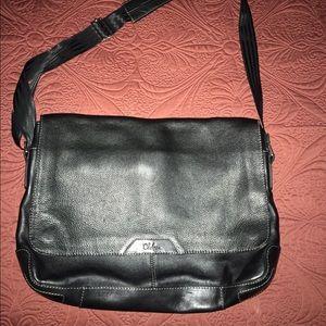 Cole Haan leather crossbody laptop bag